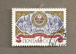 Stamps Russia -  60 Aniv creación República