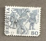 Stamps Switzerland -  Máscaras