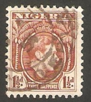 Sellos del Mundo : Africa : Nigeria : 54 - George VI