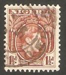 Stamps : Africa : Nigeria :  54 - George VI