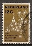 Sellos de Europa - Holanda -  1962 teléfono automatización completa.