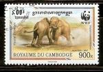 Sellos de Asia - Camboya -  ELEFANTES