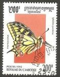 Sellos de Asia - Camboya -  Mariposa