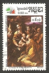 Stamps : Asia : Cambodia :  Kampuchea - 591 - Cuadro de Mazzola