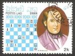 Sellos del Mundo : Asia : Laos :  Maestro del ajedrez