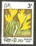 Sellos de Asia - Laos -  Flor de jardín