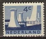 Sellos de Europa - Holanda -  Las torres de refrigeración, las minas estatales, Limburg.