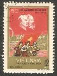 Stamps : Asia : Vietnam :  552 - 50 Anivº de la Revolución rusa de Octubre, Lenin y Marx