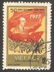 Stamps : Asia : Vietnam :   553 - 50 Anivº de la Revolución rusa de Octubre, Lenin