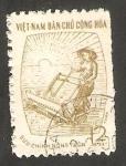 Stamps : Asia : Vietnam :  Campesino trabajando el campo