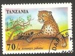 Sellos de Africa - Tanzania -  1913 - animal salvaje, acinonyx jubatus