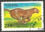 Sellos de Africa - Tanzania -  1918 - animal salvaje, pantera pordus
