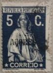Stamps Portugal -  azores correio 1914