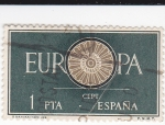 Stamps Spain -  Europa-CEPT 1960             (o)