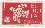 Stamps Spain -  Europa-CEPT 1961            (o)
