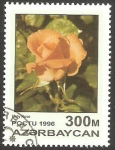 Stamps Azerbaijan -   FLor, Lady rosa