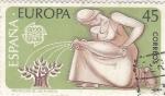 Stamps Spain -  Europa-CEPT 1986 -Protección de las Plantas          (o)