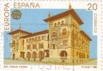 Sellos de Europa - España -  Europa-CEPT 1990  Edificio de Comunicaciones de Vitoria        (o)