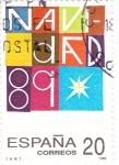 Stamps Spain -  NAVIDAD-89          (O)