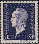 Sellos del Mundo : Europa : Francia :  MARIANNE DE DULAC 1945. Y&T Nº 701. RESERVADO