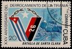 Sellos de America - Cuba -  Battalla de Santa Clara