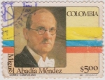 Stamps of the world : Colombia :  Miguel Abadía Méndez