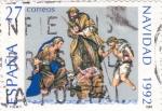 Stamps Spain -  NAVIDAD-92          (O)