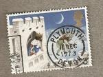 Stamps United Kingdom -  Rey asomado ventana castillo