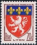 Sellos del Mundo : Europa : Francia :  ESCUDOS DE PROVINCIAS 1958. LYON. Y&T Nº 1181. RESERVADO
