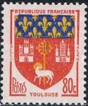 Sellos del Mundo : Europa : Francia :  ESCUDOS DE PROVINCIAS 1958. TOULOUSE. Y&T Nº 1182. RESERVADO