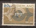 Sellos de Europa - Holanda -  Centenario de ITU-Unión Internacional de Telecomunicaciones.