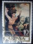 Sellos de Europa - España -  Ed:1972- Día del Sello- Luis de Morales ¨El Divino San Francisco de Ssis¨Pintura de Luis de Morales