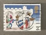 Stamps United Kingdom -  Paje en castillo