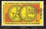 Sellos de America - Cuba -  COFERENCIA  CONTRA  EL  HAMBRE