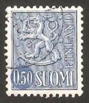 Stamps Finland -   541 AB - león rampante