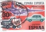Stamps Spain -  ESPAÑA EXPORTA-   Vehículos              (O)