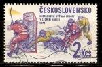 Sellos de Europa - Checoslovaquia -  HOCKEY  SOBRE  HIELO