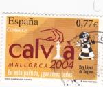 Sellos de Europa - España -  CALVIA-Mallorca 2004. En esta partida.!ganamos todos!      (O)