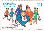 Stamps Spain -  Cómics-Personajes del Tebeo- LA FAMILIA ULISES      (O)