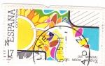 Stamps Spain -  Día Mundial del Medio Ambiente    (O)