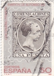 Sellos de Europa - España -  Centenario de la primera emisión de Alfonso XIII      (O)