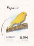 Stamps Spain -  Fauna- Canario       (O)