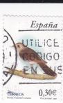 Stamps Spain -  Fauna- Ruiseñor Común       (O)