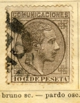Stamps Europe - Spain -  Alfonso XII Ed 1878