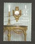 Sellos de Europa - Finlandia -  1958 - Candelabro y reloj
