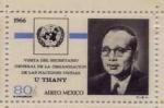 Stamps Mexico -  VISITA DELSECRETARIO GENERAL DE LA ORGANIZACION DE  LAS NACIONES UNIDAS