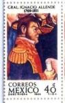 Sellos del Mundo : America : México : GRAL. IGNACIO ALLENDE 1769 - 1969
