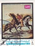 Sellos de Asia - Yemen -  Pintura de Eugené Delacroix