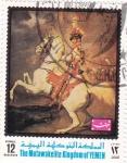 Stamps Yemen -  Caballo rampante y  jinete