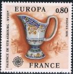 Sellos de Europa - Francia -  EUROPA 1976. LOZA DE ESTRASBURGO. Y&T Nº 1877